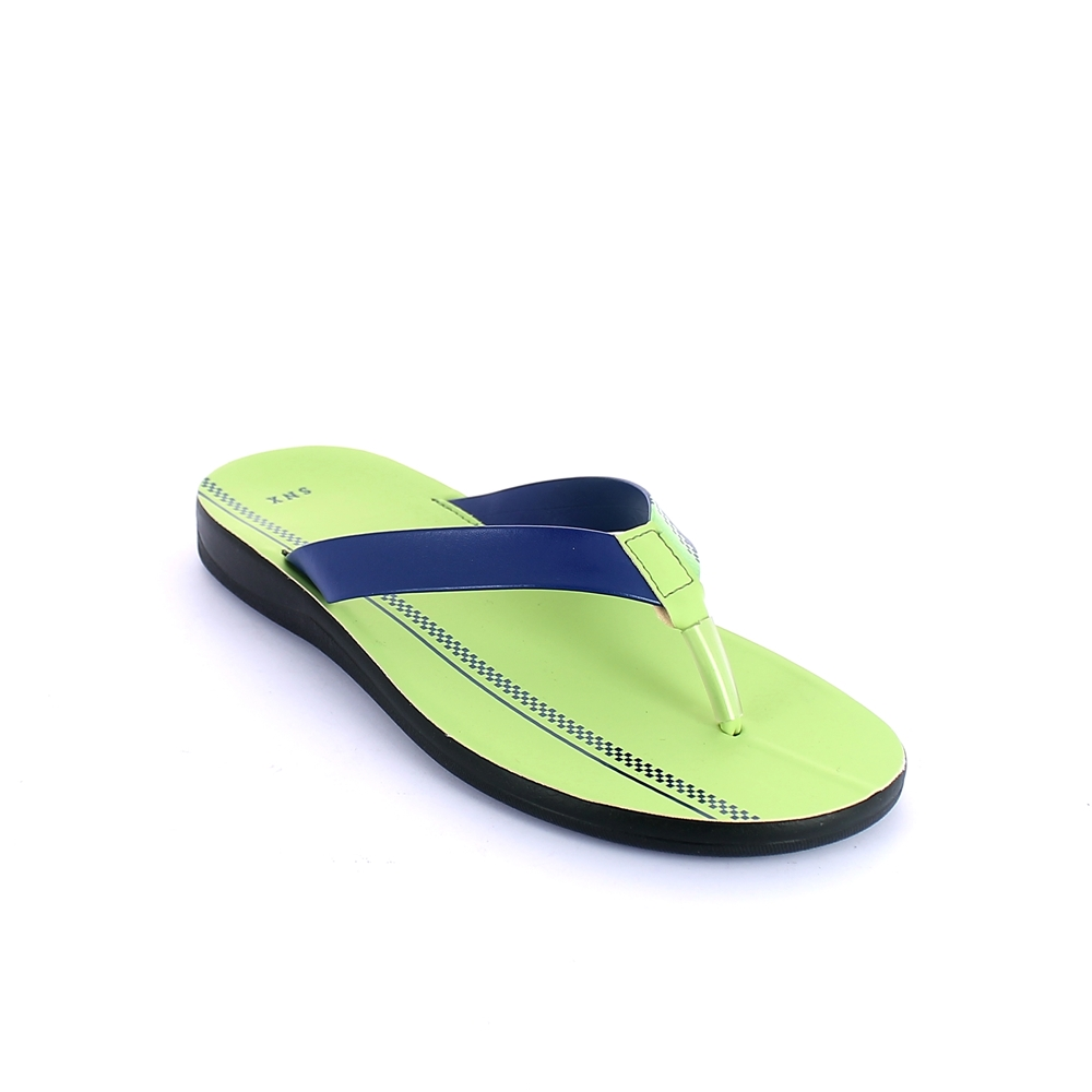 Thong mule for men with injected polyurethane sole