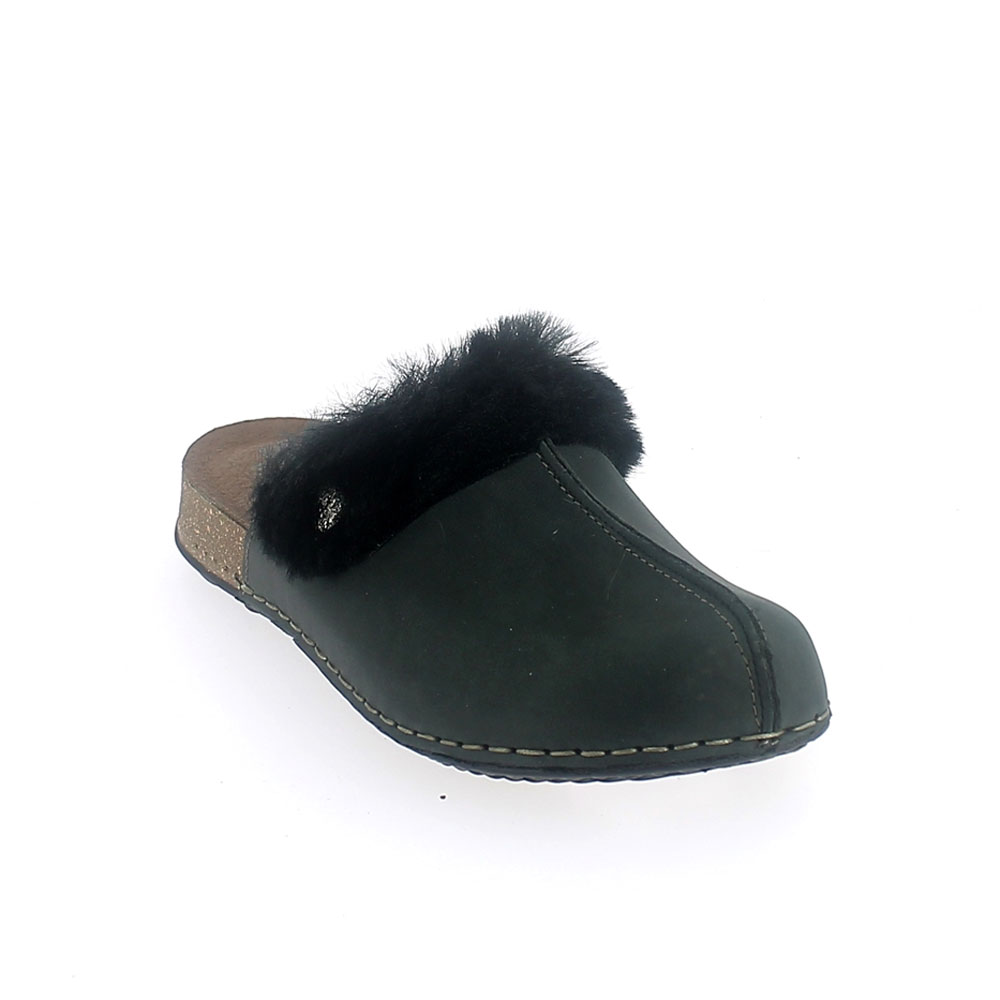 """Natural Line"" Winter Slipper for women with a cork effect outsole"