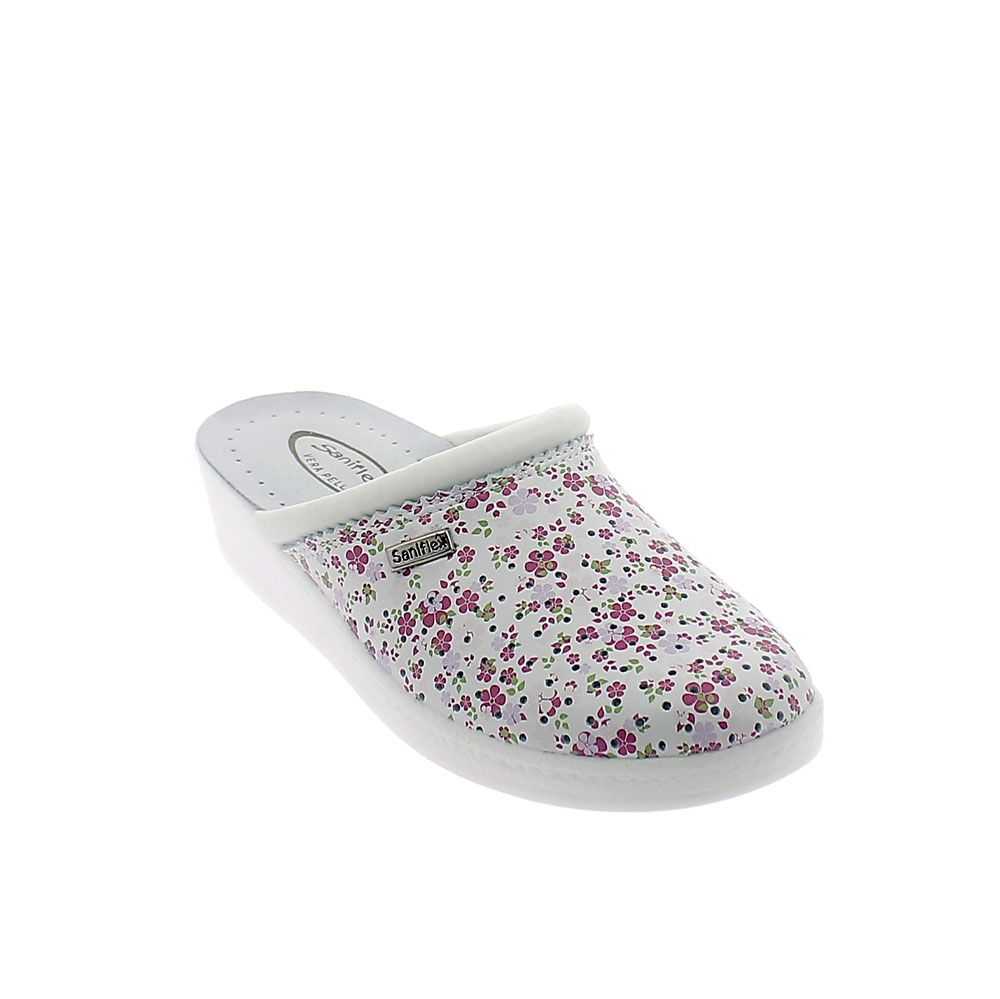 """Floral "" line Slipper for women with closed toe upper and padded insole."