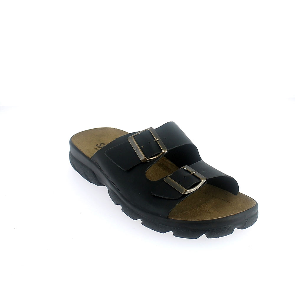 Synthetic leather summer slipper for man