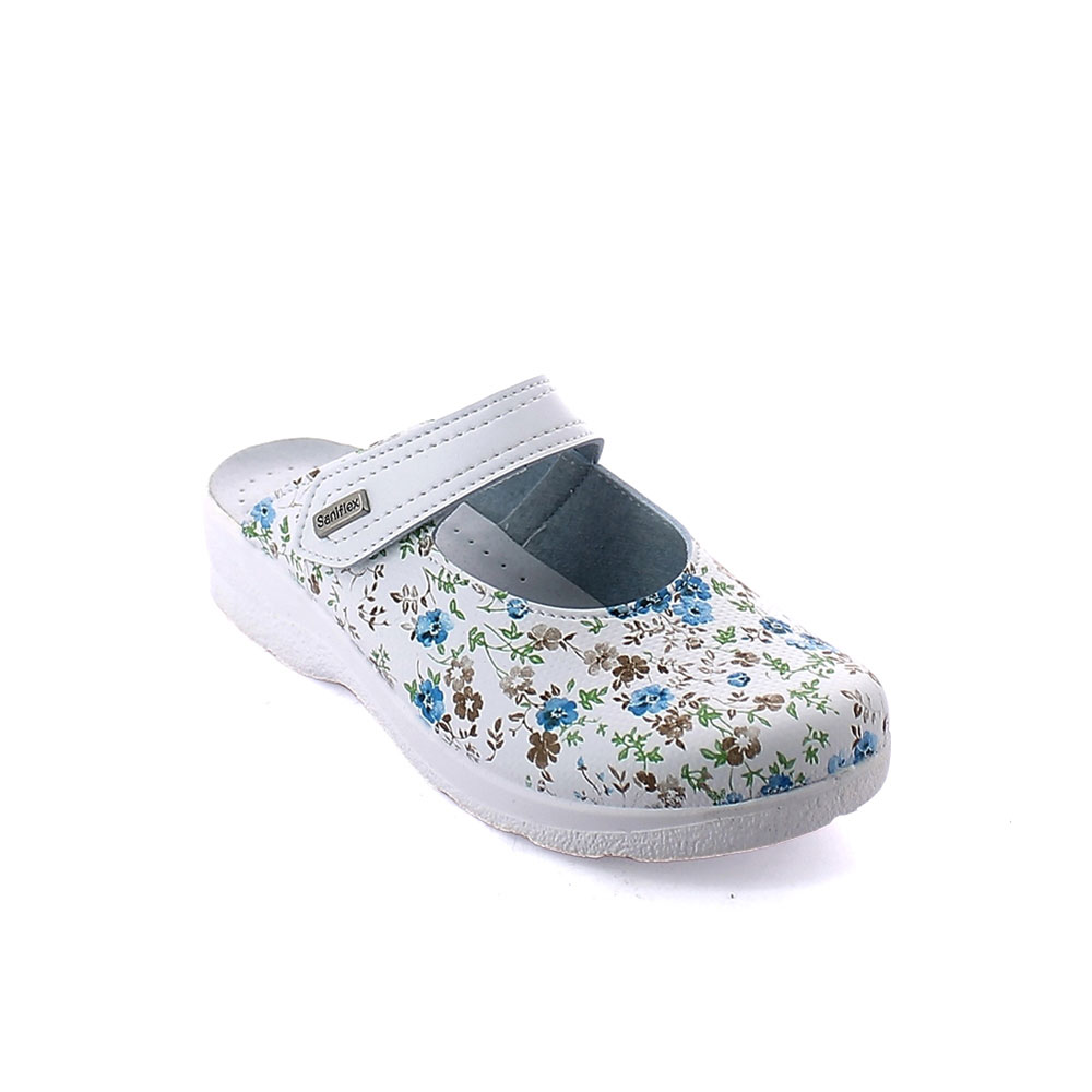 """Floral "" line Slipper for women with closed toe upper and padded insole. Comfortable last"