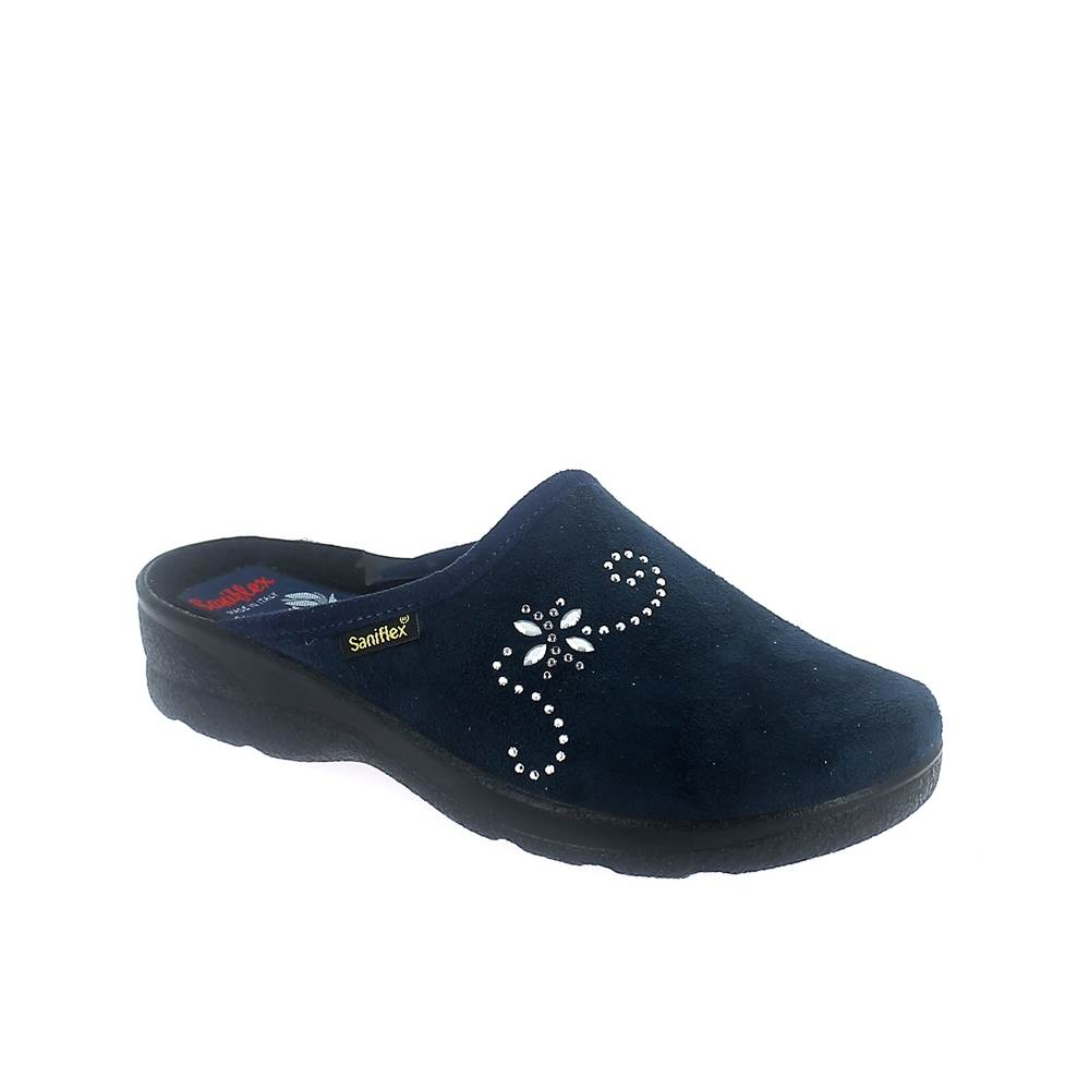 Winter slipper for women with injected outsole. Made in Italy