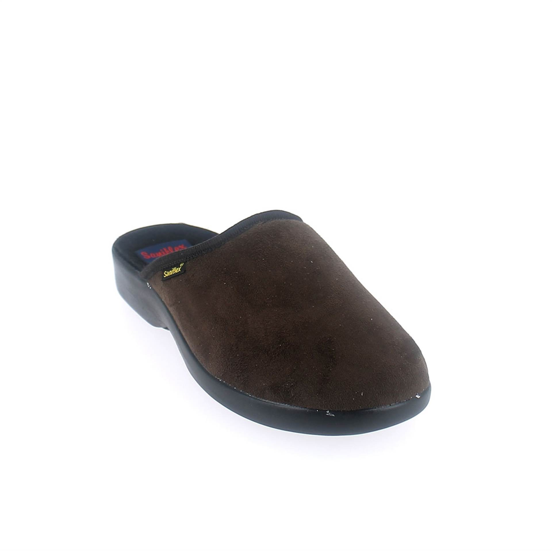 Winter slipper for men with injected outsole.