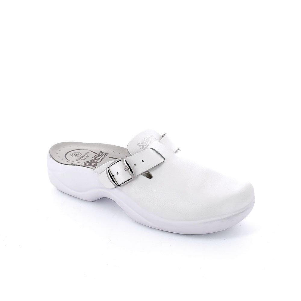 Leather upper certified medical slipper for women made in Italy
