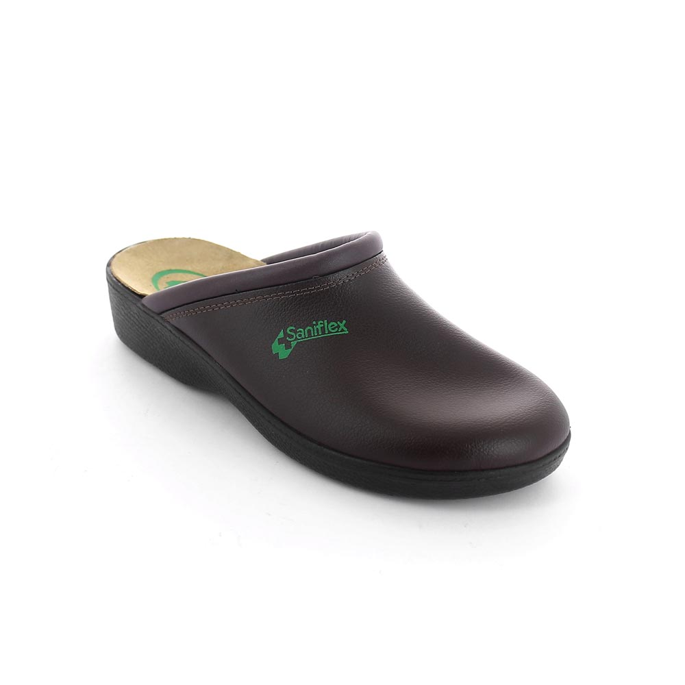 Leather medical slipper for men  made in Italy